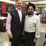 Raja fitting the suit to me