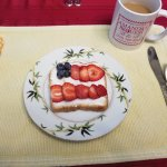 Breakfast #3 start with sweet, holiday flag motif