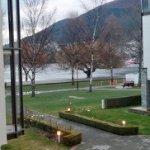 Balcony view to lake