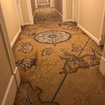 Nautical hall carpet