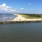 Beach adjoining the NJ terminal, on Delaware Bay