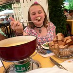 Eating Cheese Fondue at the Schuh Grand Cafe Restaurant
