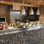 Breakfast buffet, egg station