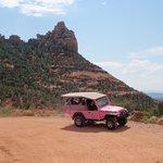 A pink jeep