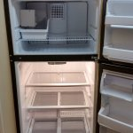 Inside of fridge/freezer was clean