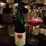 One of many German Spaetburgunders on the restaurant's wine list.