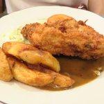 deep fried chicken chop with black pepper sauce
