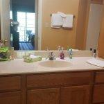 Sink area of bathroom