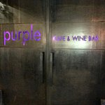 Purple cafe front door