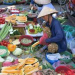 So much fresh food in the Hoi An food market