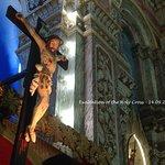 The Cross above the main altar in Santa Cruz Cathedral Basilica