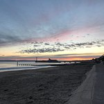 Bournemouth Pier at sunset.