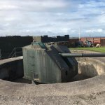 One of the guns in the battery