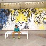 Art work at MG Road Metro Station