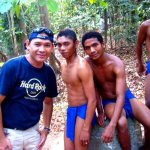 """Posing with some aetas at the """"Aetas' Trail"""""""