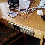 Desk with intergrated radio .. Vintage...