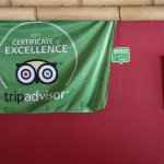 Trip advisor sign proudly displayed