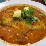 Ordered a small portion of the popular fish head curry dish