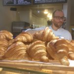 How can you walk past a French baker carrying a tray of fresh croissants?