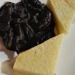 black squeed with polenta