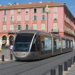 Place Massena with tram, looking north-east