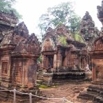 The exquisitely carved Banteay Srei (Woman's Temple).