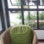 wonderful resting spot in the side lobby overlooking the pool