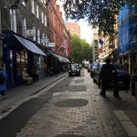 The quiet street Covent Garden is located on