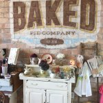 Shop is decorated in shabby chic style.