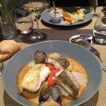 cotriade pêche du jour et bisque de crustacés