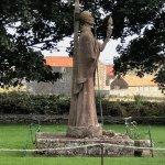 St Cuthbert's statue Lindisfarne