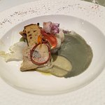 Homard bleu , marbré de foie gras