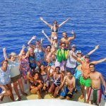 The whole group just the snorkelling and adventure drive
