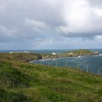 On the headland above Fistral beach