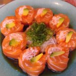 Ponzu Salmon Appetizer