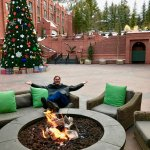 Fire pit, Christmas tree and glorious mountain views
