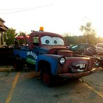 Tow Mater - sits in parking lot