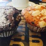 Yummy Fresh muffin and coffee 😋cheers ☕️☕️