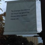 One of the motivational banners on campus - great message!