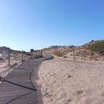 Approaching Chia Laguna private beach