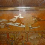lobby ceiling painting of transportation
