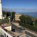 The road outside the hotel which runs all the way to Sorrento