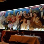 Mural on wall in dining room Jeff Ruby's