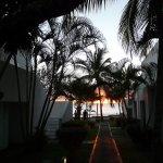 De la terrasse de notre bungalow - Coucher de soleil sur l'Océan Indien