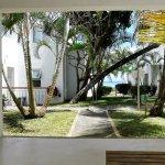 De notre bungalow, côté jardin,enfilade sur l'Océan Indien