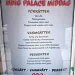 menu outside