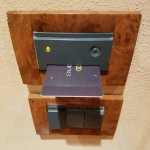 Card slot that turns off electricity when you leave the room.