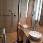 Beautiful bath and shower room.