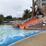 Great new slides but bright green mould in new kids pool, pool bar and other places is unaccepta