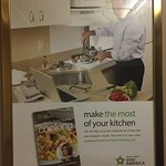 Misleading advertising in the elevators. Nothing in the kitchen to cook with